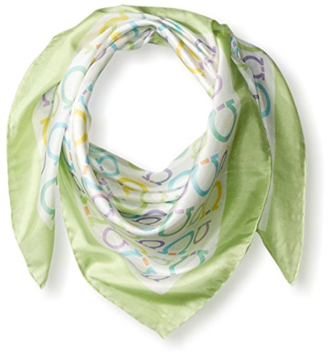 Salvatore-Ferragamo-Womens-Patterned-Scarf-Verdino