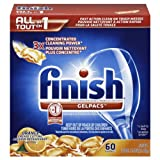Finish Gelpacs Dishwasher Detergent Orange Scent 60 Ct