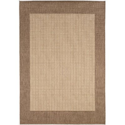 Recife Checkered Field/Natural-Cocoa Indoor/Outdoor Rug