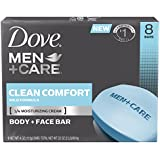 Dove Men+Care Bar, Clean Comfort 4 ounce, 8 Bar