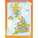 The UK Geography Educational Wall ChartPoster in laminated paper A1 850mm x 594mm