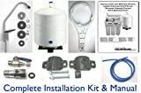100 Gallon Per Day 5-Stage Home Reverse Osmosis Drinking Water System with Booster Pump