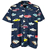 Chevrolet Bel Air Tri Five 1955 1956 1957 Hawaiian Shirt, Navy (L)