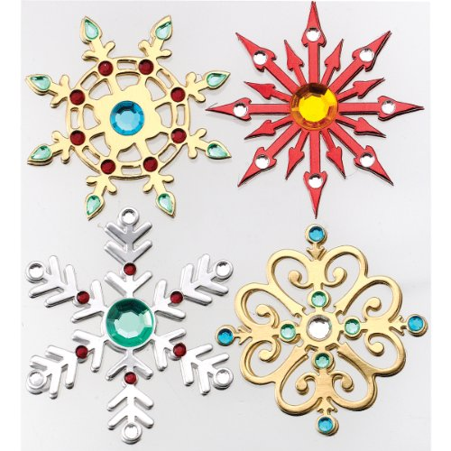 Jolee's Boutique Dimensional Stickers, Metallic Snowflakes (Jolees Gems compare prices)