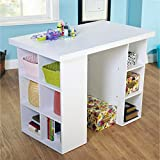 Metro Shop White Counter Height Craft Table-Counter Height Craft Table