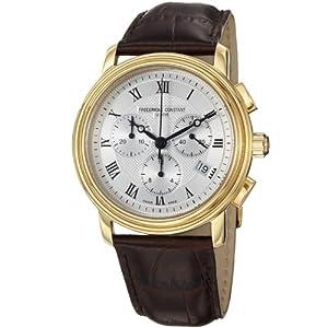 Frederique Constant Men's FC292MC4P5 Persuasion Brown Strap Chronograph Watch from Frederique Constant