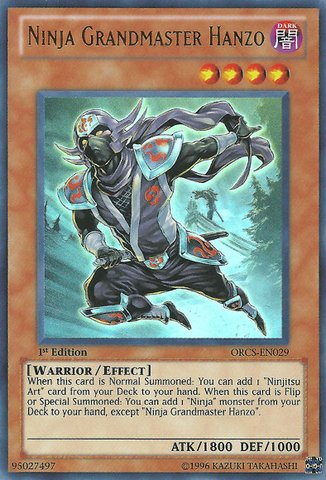 Yu-Gi-Oh! - Ninja Grandmaster Hanzo (ORCS-EN029) - Order of Chaos - Unlimited Edition - Ultra Rare (Master Hanzo compare prices)