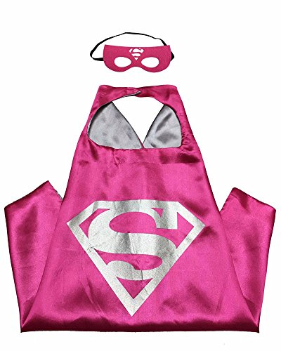 [Superhero Capes (Supergirl Rose)] (Supergirl Costumes Pink)
