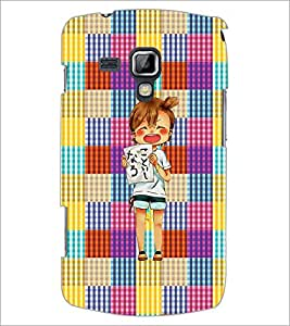 PrintDhaba Shouting Girl D-2608 Back Case Cover for SAMSUNG GALAXY S DUOS S7562 (Multi-Coloured)