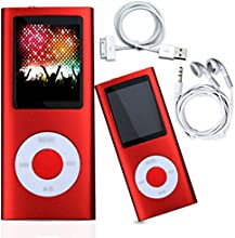 NEW 8GB MEDIA MP3 MUSIC MOVIE VIDEO PLAYER LCD FM-RADIO RECORDER GAMES (Red)