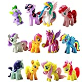 Win8Fong 12 piece Set My Little Pony Toys Figurines Playset Multi