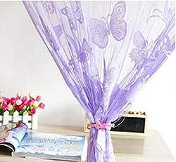 Imported Butterfly String Curtain Fringe Door Window Panel Room Divider Tassel Purple