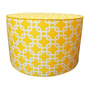 Jiti Mechanical Round Pouf Cotton Ottoman 24