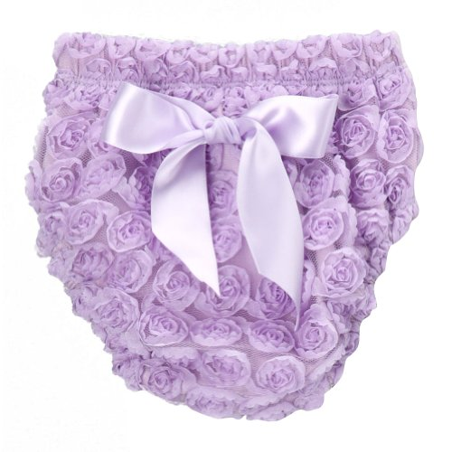 Lavender Rosette Diaper Cover, Small