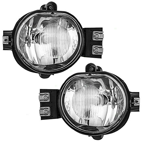 Driver and Passenger Fog Lights Lamps Replacement for Dodge Pickup Truck 55077475AE 55077474AE (Fog Light 2004 Dodge Ram Pickup compare prices)