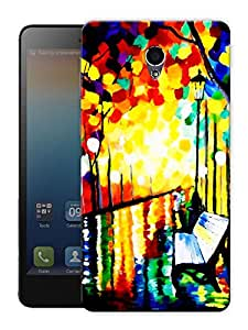 "Bench Oil Painting Printed Designer Mobile Back Cover For ""Lenovo S860"" By Humor Gang (3D, Matte Finish, Premium Quality, Protective Snap On Slim Hard Phone Case, Multi Color)"