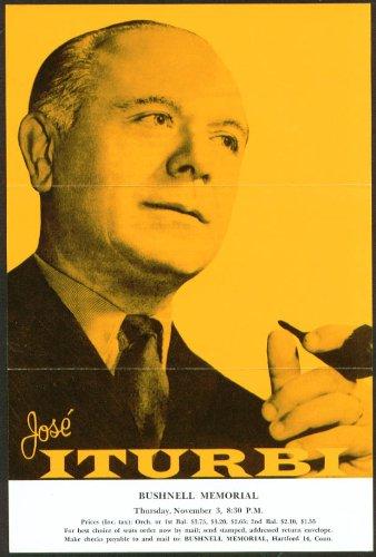 Pianist Jose Iturbi Flyer Bushnell Hartford Ct 1959