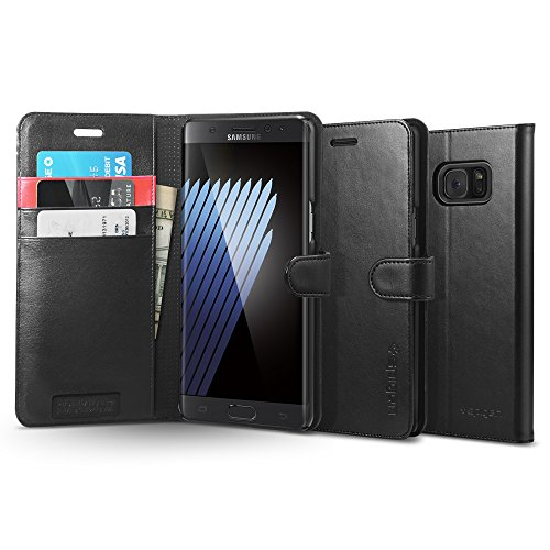 04. Spigen Wallet S Galaxy Note 7 Case with Foldable Cover and Kickstand Feature for Galaxy Note 7 2016 - Black
