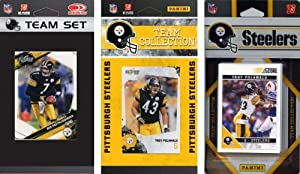 NFL Pittsburgh Steelers 3 Different Licensed Trading Card Team Sets by C&I Collectables