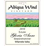 2010 Abiqua Wind Vineyard Gloria Anne Gewürztraminer Willamette Valley Estate 750 ml