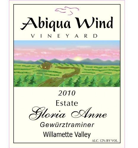 2010 Abiqua Wind Vineyard Gloria Anne Gewürztraminer Willamette Valley Estate 750 Ml
