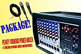 PACKAGE Peavey XR8600D 8 Channel Class D 1200W Powered Mixer + 2 x Wired Micorphones