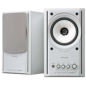 ONKYO WAVIO スピーカー 77monitorアンプ内蔵 15W+15W ハイレゾ音源対応 ホワイト GX-77M(W)