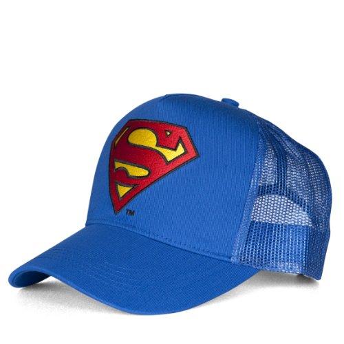 Cappelino Superman Logo - berretto DC Comics - Il supereroe - ricamato - trucker cap originale di LOGOSHIRT - azzurro - design originale concesso su licenza
