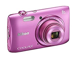 Nikon COOLPIX S3600 20.1 MP Digital Camera with 8x Zoom NIKKOR Lens and 720p HD Video (Pink) (Certified Refurbished)