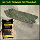Military Survival Sleeping Bag – Olive Drab: Reflects 90% Body Heat