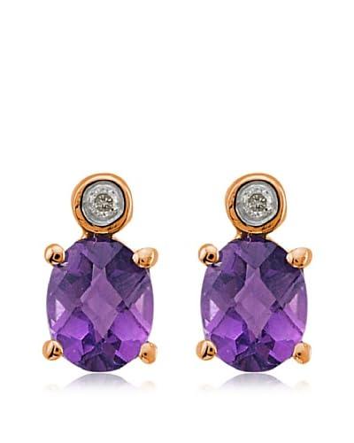 Divas Diamond Pendientes Diamante Amatista