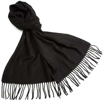 V Fraas Women's Solid Cashmink Scarf,Black,12x72