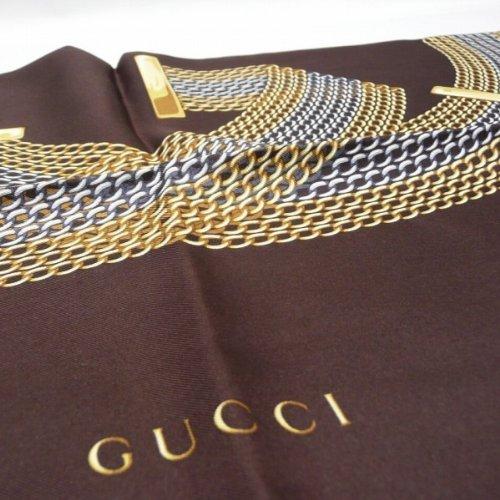 [GUCCI]グッチ スカーフ チェーンGG シルク100% 大判スカーフ GUCCI 231507-3G001-2075 [並行輸入品]