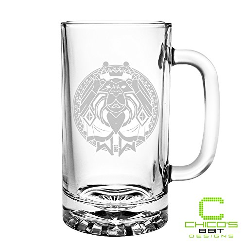 World of Warcraft - Paladin Class - Etched Beer Mug