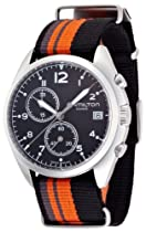 Hamilton Pilot Pioneer Chrono Quartz Stainless Steel Mens Watch