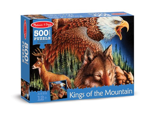 Melissa & Doug King of the Mountain Cardboard Jigsaw Puzzle, 500-Piece