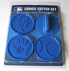 MLB New York Mets Officially Licensed Set of Cookie Cutters