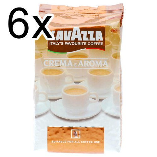 Lavazza Crema E Aroma Coffee Beans, Pack of 6, 6 x 1000g