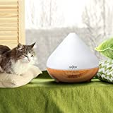Aromatherapy Diffuser Anjou Essential Oil Diffuser 300ml, Ultrasonic Aroma Humidifier (Up to 8H Use, Mist Control, Waterless Auto Shut-Off, 4 Timer Settings, 7 Color LED Lights)