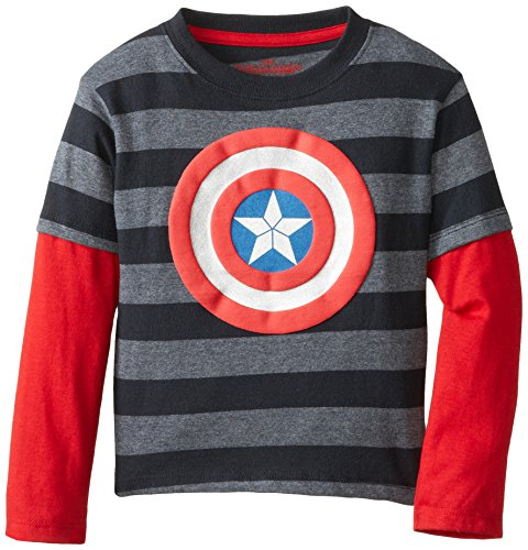 Extreme Concepts Little Boys' Captain America Logo Tee