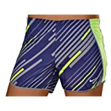 Nike Women's All Over Printed Pacer Built-in-Brief Tempo Running Shorts-Purple/Yellow coupons 2015
