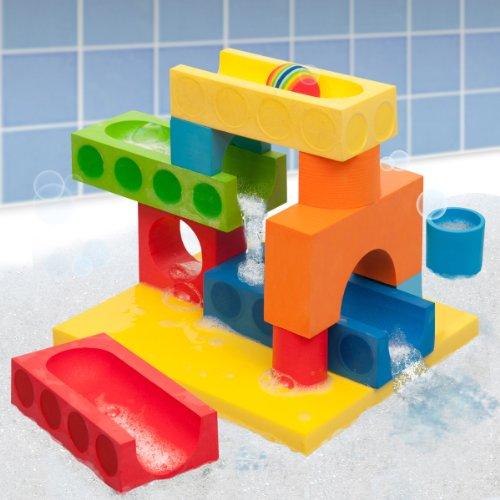 BathBlocks Big Blocks Water Fall Set, 15-Piece - 1
