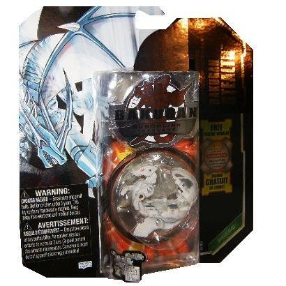 Bakugan Stealth Gundalian Invaders EXCLUSIVE BakuCamo (White) Haos LUMAGROWL 790G w/DNA CODE (FACTORY SEALED)