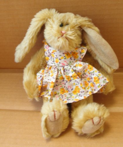 TY Collectibles Shelby the Rabbit in Flower Dress Stuffed Animal Plush Toy - 8 inches tall