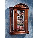 Design Toscano Rosedale Glass Wall Mounted Storage Curio Cabinet, 22 Inch, Hardwood, Mahogany (Color: Mahogany, Tamaño: 22 Inch)