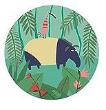 Jungle AJ920G - plato de postre, ¿por qué el tapir, 20 cm