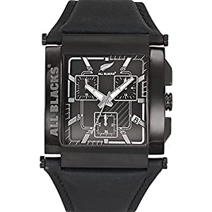 All Blacks - 680148 - Montre Homme - Quartz Chronographe - Cadran Noir - Bracelet Cuir Noir