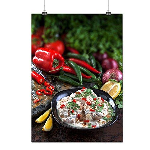 Café Crème Salade Aliments Matte/Glacé Affiche A0 (119cm x 84cm) | Wellcoda