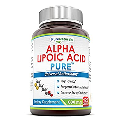 Pure Naturals #1 Alpha Lipoic Acid 600 Mg Capsules - High Potency - Powerful Antioxidant - 3rd Party Tested :: Certified Full Strength
