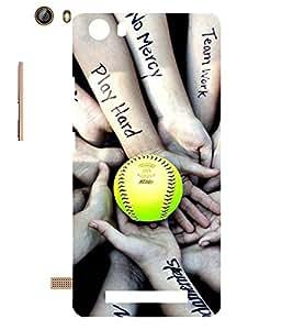 EPICCASE Baseball Mobile Back Case Cover For Gionee Marathon M5 lite (Designer Case)